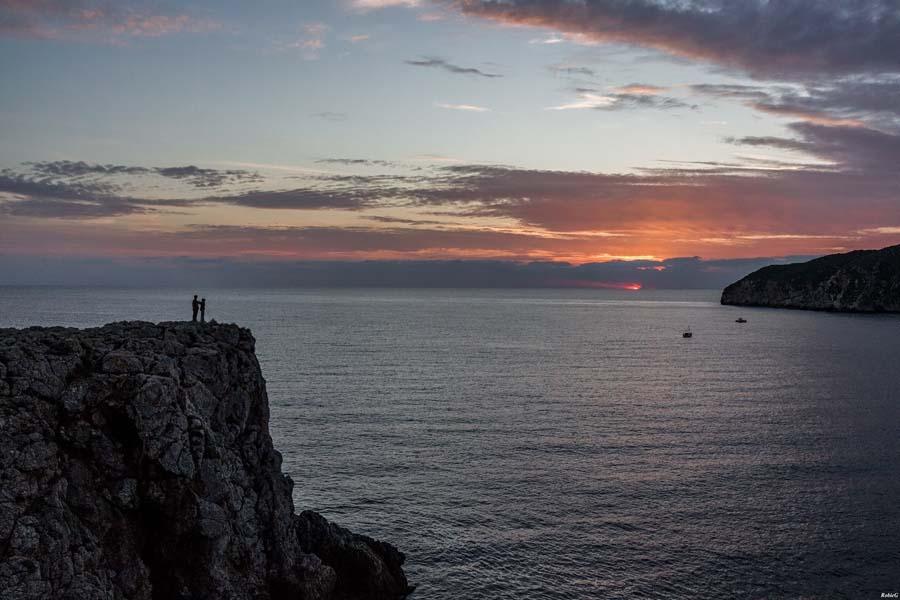 Sonnenuntergang mit Liebenden